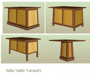 Sofa Table Variants