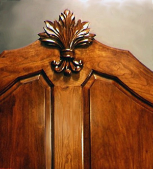 Cherry Bed, Headboard Carving