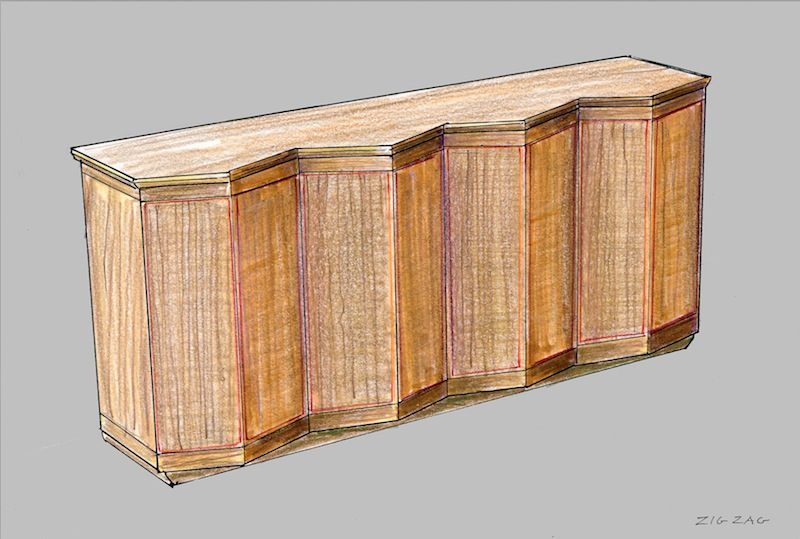 Zig Zag Cabinet.
