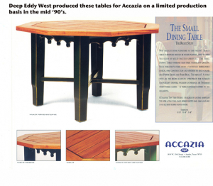 Accazia's Small Dining Table